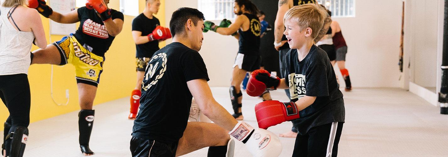Kid Practicing Muay Thai Toronto